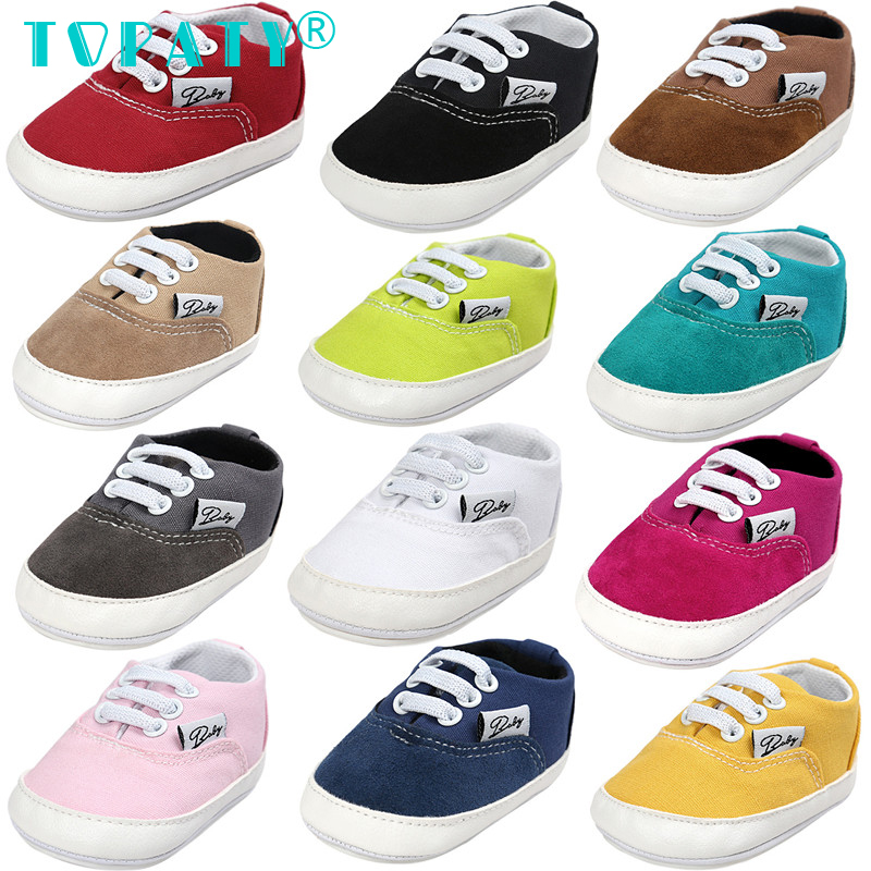 Lace-up Sneakers Brand New Baby Boys Girls Soft Soled Toddler Shoes Infant First Walkers Moccasins Bebe Sapatos