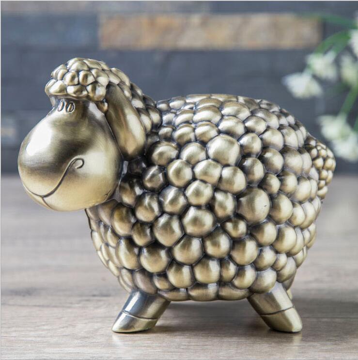 Cartoon Sheep Metal Piggy Bank Kids Money Box Money Hidden Safe Coin Dispenser Coin Counter For Kids Gifts PB046