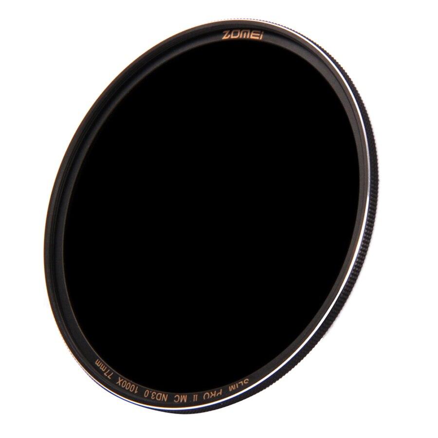 ZOMEI 62mm PRO II (PROII) 슬림 MC 멀티 코팅 중립 밀도 ND3.0 ND1000 1000X 렌즈 필터 10 스톱 광학 유리