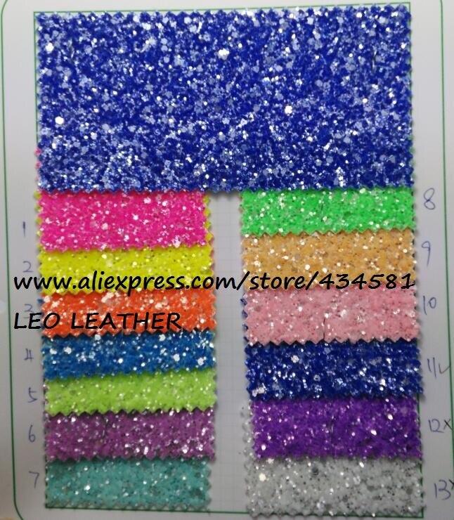 90x132 cm Synthétique En Cuir Faux Cuir Tissu Glitter En Cuir Cristal Grain En Cuir Tissu Couleur Glitter Pour la Couture BRICOLAGE P303