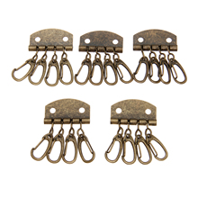 5Pcs Metal Leather Craft DIY Pure Brass Key Row Rivet Hook Patchwork Sewing Holders For Bag Accessories Tools