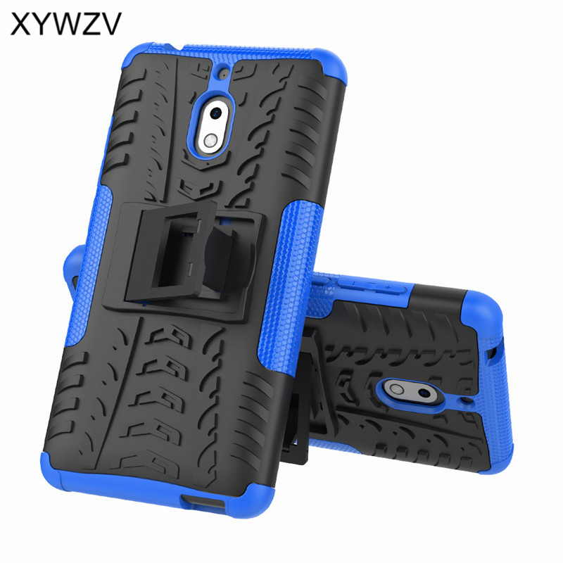 Image 2 - For Nokia 2.1 Case Shockproof Case Armor Soft Silicone Hard PC Phone Case For Nokia 2.1 Back Cover For Nokia 2.1 Holder Fundas-in Fitted Cases from Cellphones & Telecommunications
