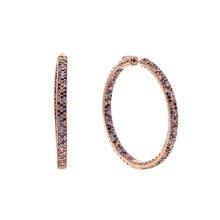 Женские серьги с радужным камнем большие разноцветные 50 мм