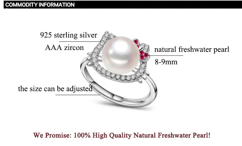 Hello Kitty Pearl Jewelry Ring 1