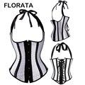 FLORATA Caliente Moda Sexy vestido halter de Encaje hasta boned corset bustier Faja Envío Gratis