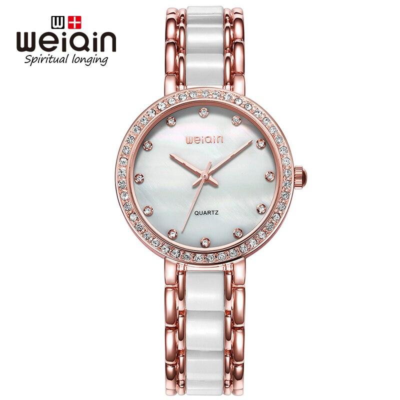 e3cc8b3132e9e ⑧Saat Diament WEIQIN Luxo Dial Mulheres Relógios de Strass Moda ...