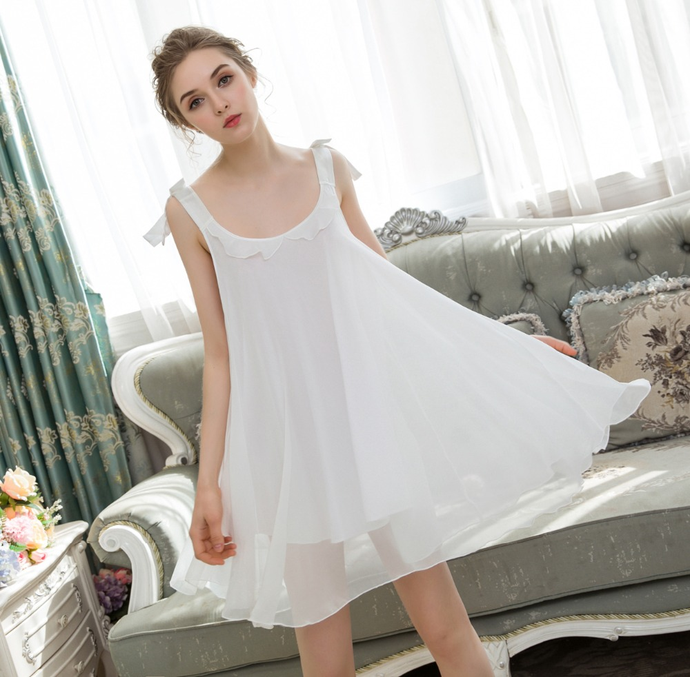 a4ce1f5c69 2019 New Women Nightdress Plus Size Lingerie Ladies Hot Erotic Sleeveless  Nightgowns Sleepshirts Short Nightwear Home Dress