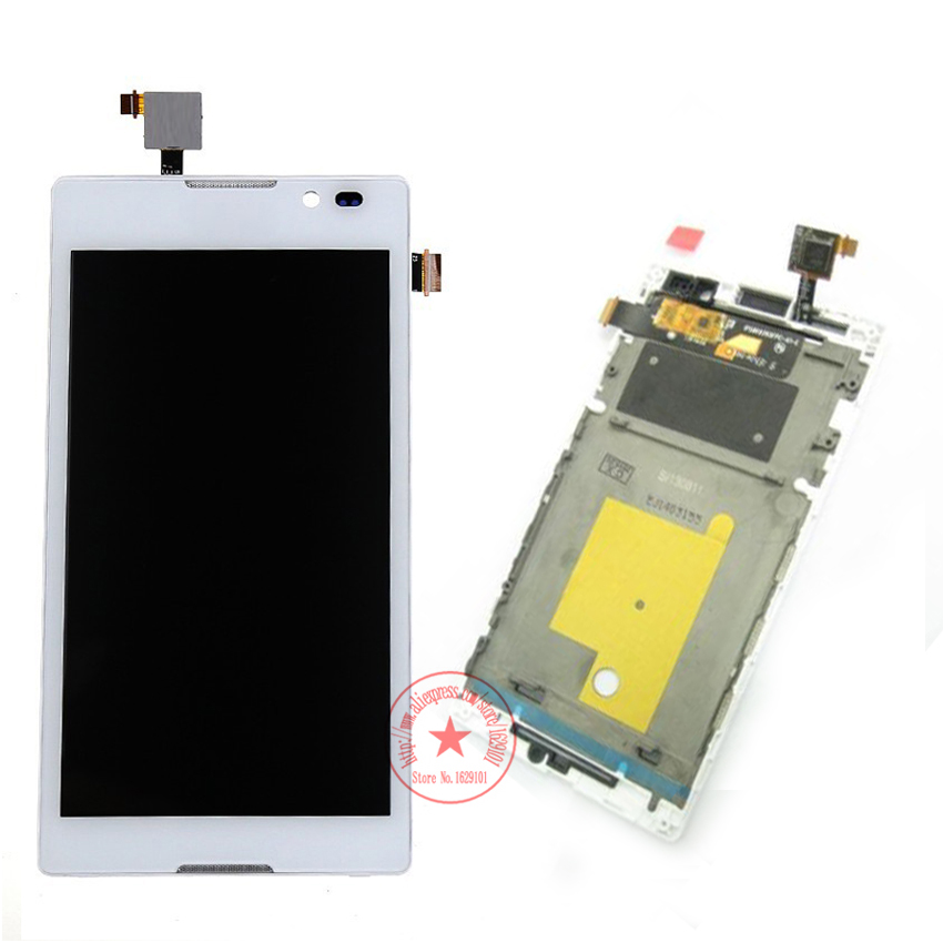 Подробнее о Touch Screen Digitizer Glass Sensor LCD Display assembly with frame For Sony Xperia C S39H S39 C2304 C2305 Panel Parts for sony xperia arc s lt18i lt18 x12 lcd display screen monitor digitizer touch panel screen glass assembly replacement
