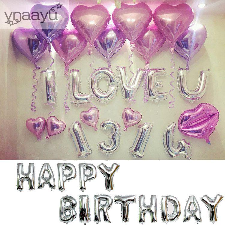 Ynaayu 16 pulgadas globos de papel de plata carta A-Z dígitos helio - Para fiestas y celebraciones