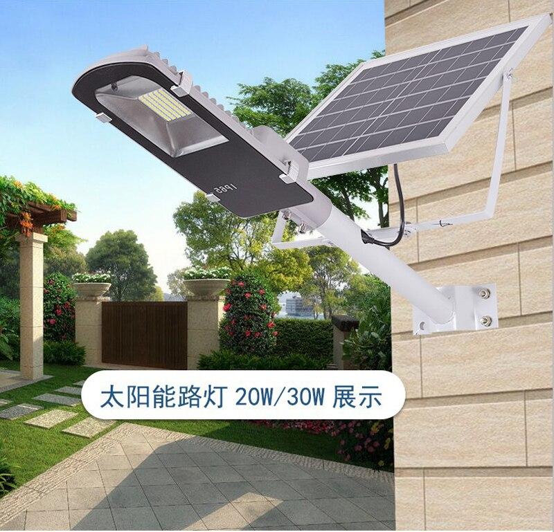 8pcs Remote Control 10W 20W 30W 50W Solar Panel Street Light Solar Sensor Lighting Outdoor Path Wall Emergency Lamp