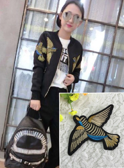 Xiu Bird Skin Embroidered Zhangzi Color Line Bird Embroidery Clothing Accessories Stickers Embroidered DIY Cloth Stickers