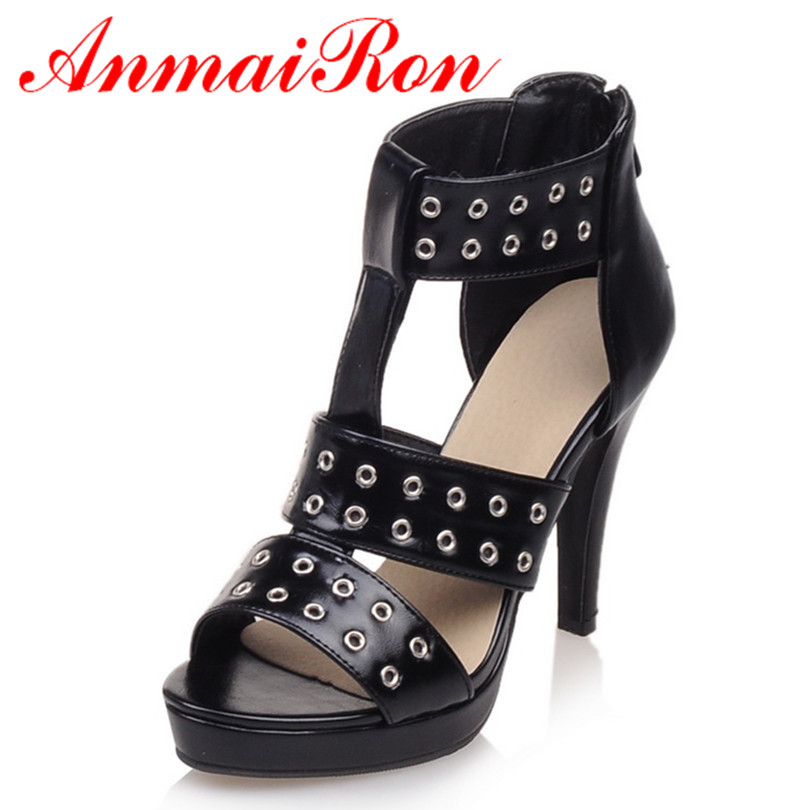 ANMAIRON Summer Sandals Boots Women Boots Height Increasing Sexy Women Sandals Platform Boots Black White Slip-On Sandals Boots