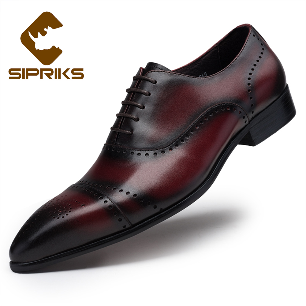 aliexpress buy sipriks burgundy formal shoes for