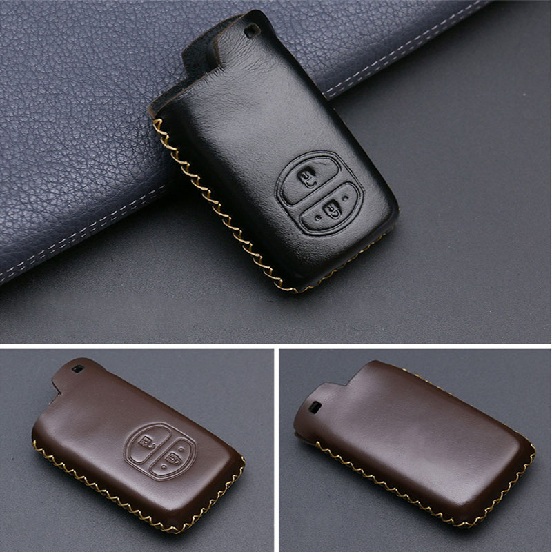 Image 4 - 2 Buttons Car Key Holder Case Cover for TOYOTA Camry Highlander Crown Prado Land Cruiser Hilux Prius car key cover shell-in Key Case for Car from Automobiles & Motorcycles