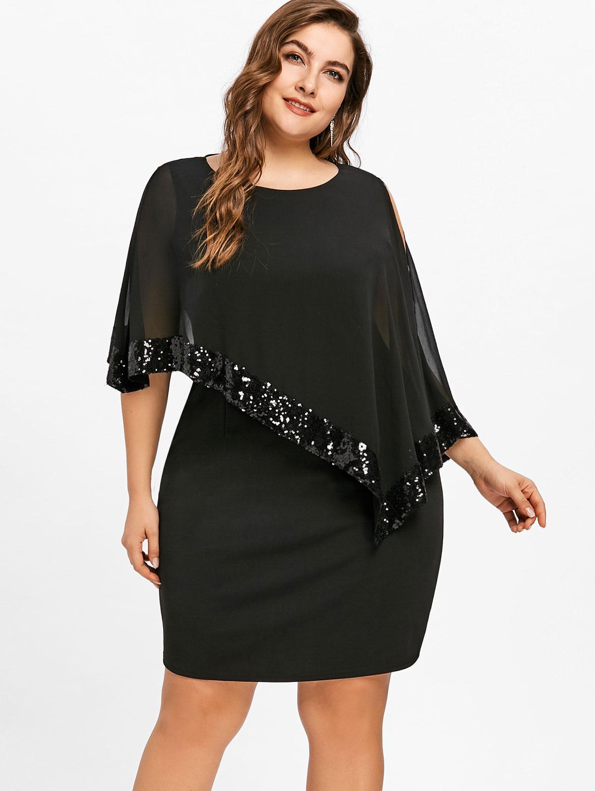 Fashion Dresses Accessories: Gamiss Women Fashion 2018 Summer Plus Size 5XL Sequins