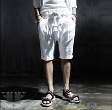Chaude 2021 Mode d'été Décontracté Genou-Longueur Pliableness Tout-Match Corde De Chanvre Lin Plage Pantalon Cordon Livraison Gratuite