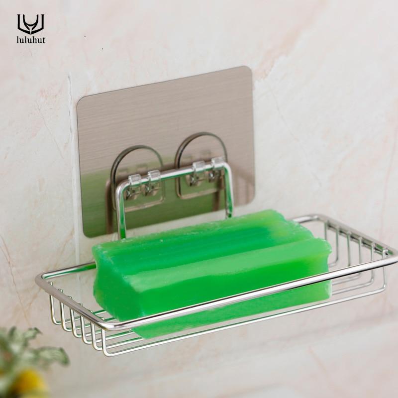 Luluhut 1 st roestvrijstalen zeeprek wandmontage douche zeephouder - Home opslag en organisatie