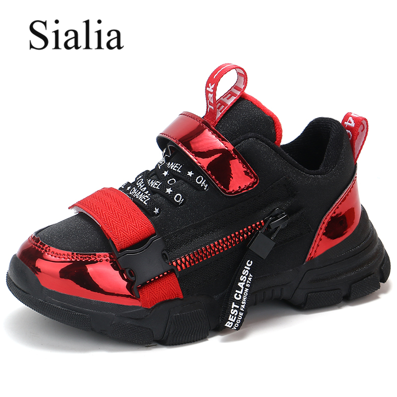 Sialia Kids Sneakers For Boys Shoes Children Sneakers Girls Shoes Winter Autumn Sport Trainer Footwear Cotton Fabric Warm 2019