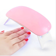 цена Portable Mini 6W LED Lamp Nail Dryer USB Charge 45s 60s Timer LED Light Quick Dry Nails Gel Manicure For Nail Art
