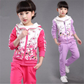 Children clothing girls spring 2016 new big virgin suit sportswear piece Spring and Autumn Sweater Girl