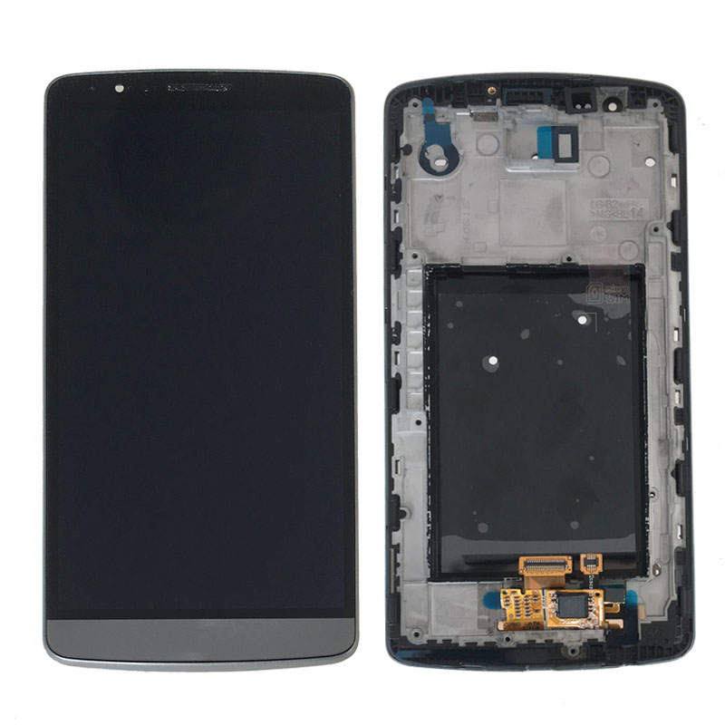 ФОТО NEW For LG G3 D850 D851 D855 LCD Display Touch Screen Digitizer Glass Assembly+Frame