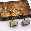 Kinds of Thor Hammer Keychain Metal Figure Pendant Key Chains Movie Accessory High Quality christmas gift Free Shipping