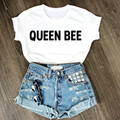 2016 New Fashion European And American Popular Hot Fun Text Funny Ms. Round Neck Short Sleeve T-shirt