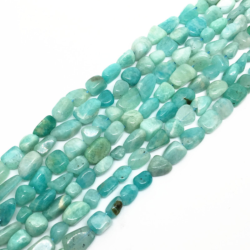 BEADZTALK Natural Blue Amazonite Stone Perles 5-8 mm Green Stone - Mote smykker - Bilde 2