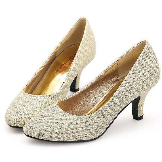 Oro plata rojo bombea los zapatos para mujer de baja zapatos de tacón alto sexy TG1435 clásico vestido de fiesta bombea los zapatos de señora proms bomba de baile más el tamaño