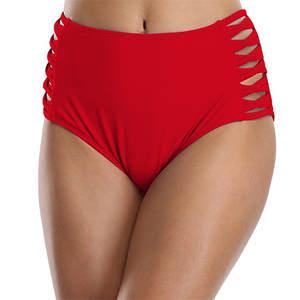 f59a7545ed99 Female Black High Waist Bikini Swimwear Solid Brazilian Bottoms Swim Briefs