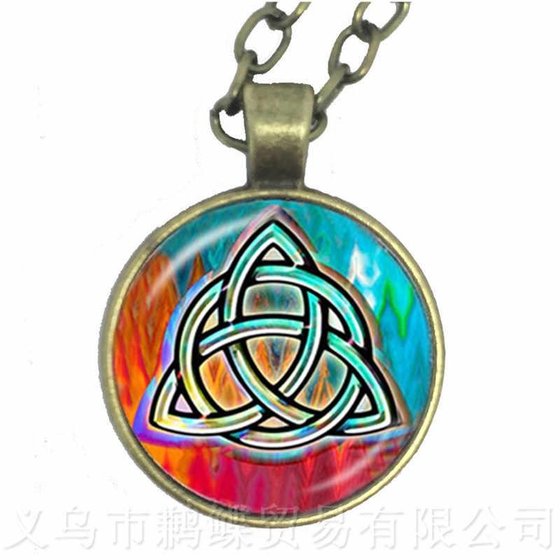 Celtics Logo Charm naszyjnik biżuteria Handmade talizman i leczenie szkody pasuje do religia wiara z pamiątkami łańcuch sweter
