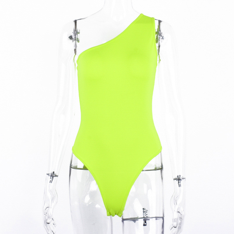 One shoulder bodysuit women24