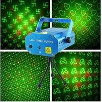 20 pz/lotto trasporto di goccia led mini proiettore rosso verde dj della fase xmas party laser lighting show