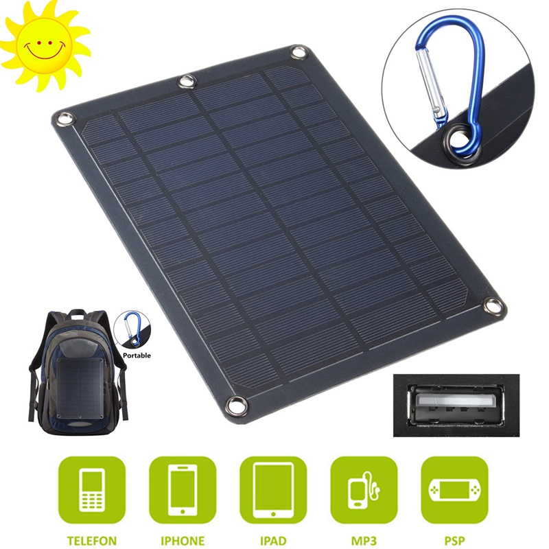 LEORY 5W 5V 1A Portable PolyCrystalline Solar Panel USB Battery Charger Solar Cell 190*250mm For Car Cell Phone Power Bank