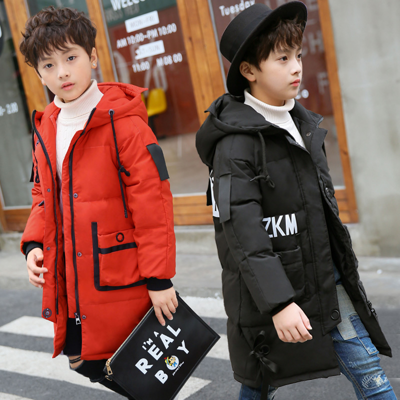цены Boy Snow Wear Boys Down Jackets Coats Winter Warm Baby Boy's Coats Thick Duck Down Kids Jacket Children's Outerwears Cold Winter