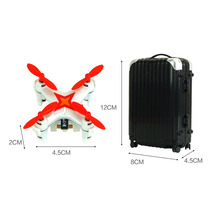 2016 Mini Drones E904 Suitcase Remote Control Pocket Drone 2.4G 3.7V 4 Channel 3D Roll Mini Toy RC Quadcopter with LED