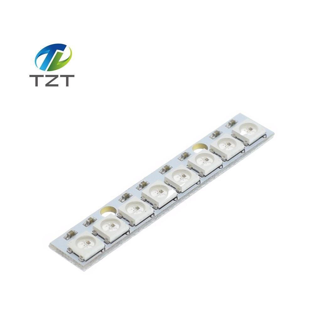 TZT teng 1 sztuk Kij 8 kanałowy WS2812 5050 LED RGB światła wbudowany kolorowy napędzane rozwój pokładzie