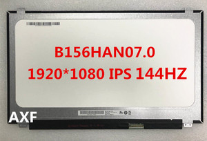 Novo e original b156han07.1 b156han07.0 fhd ips matriz 1920*1080 144 hz 40pin conector 72% gamut display led tela