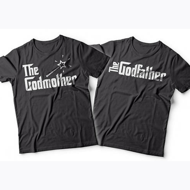 enjoythespirit godmother godfather matching tshirts gift for godparents christmas gift t shirts good quatlity cotton