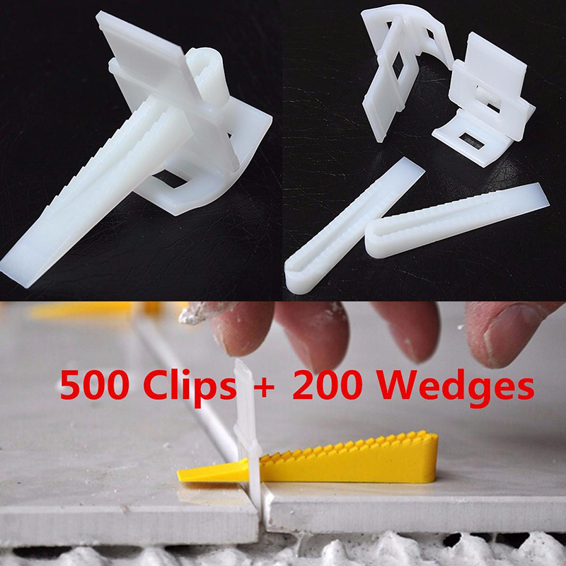 DWZ 500 Clips + 200 Wedges Tile Leveler Spacers Lippage Tile Leveling System New