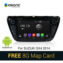8″ Android 4.4 Car DVD CD Video Player stereo Gift SD card For Suzuki SX4 2014 with GPS SWC WIFI multimedia radio bluetooth navi