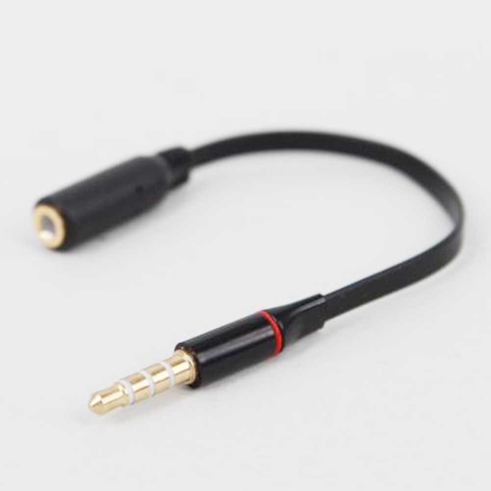 Высокое качество Черный Длина 15 см 3,5 мм мужчин и женщин стерео с разъемом динамики наушники удлинитель кабеля