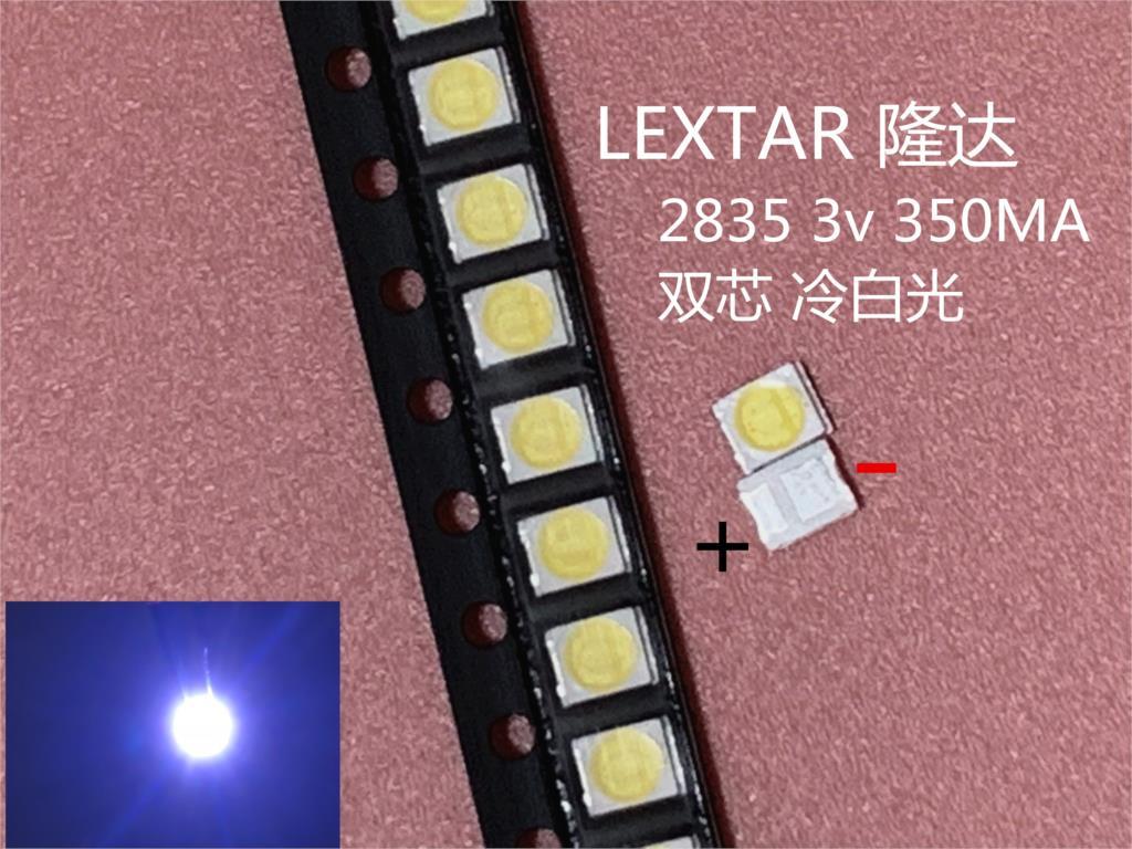 1000 шт. оригинальный LEXTAR 2835 3528 1210 3 в 1 Вт-2 Вт SMD светодиодный для ремонта телевизора подсветка холодный белый ЖК-дисплей светодиодный