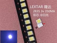 1000 pces original lextar 2835 3528 1210 3v 1w-2w smd led para reparação tv backlight branco frio lcd retroiluminação led