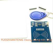 100pcs MFRC-522 RC522 RFID RF card sensor module to send S50 Fudan card, keychain watch nmd raspberry pi