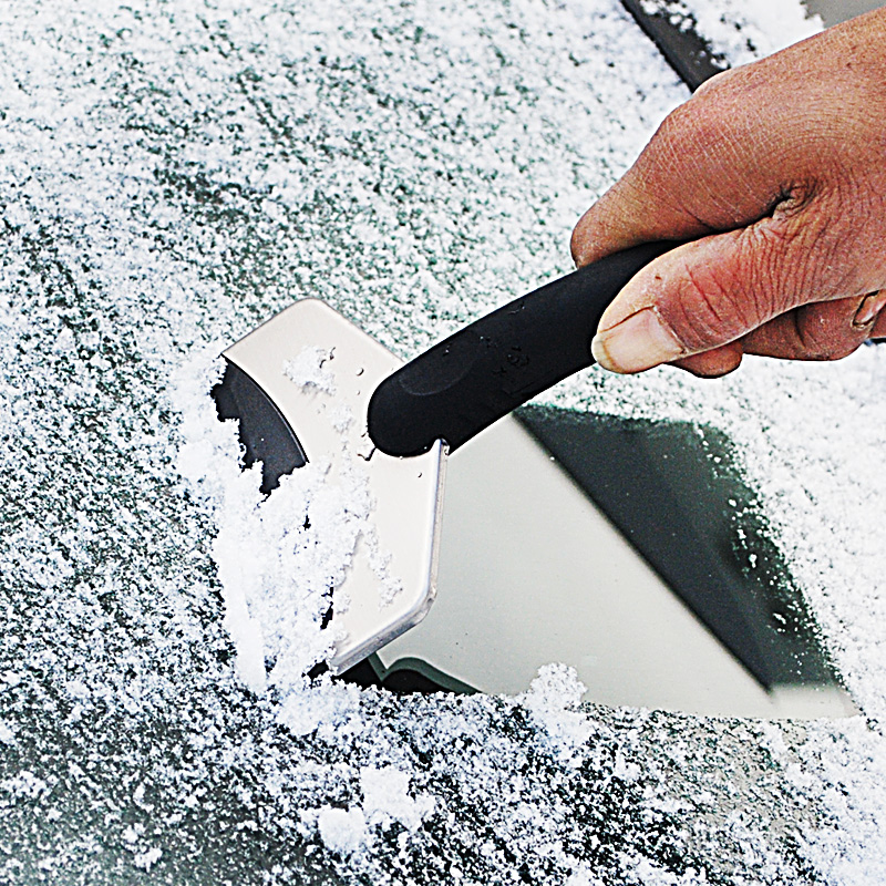 Car Stainless Steel Snow Shovel Glass Scraping Ice Scraper Scraping Snow Deicing Snow Shovel Tool