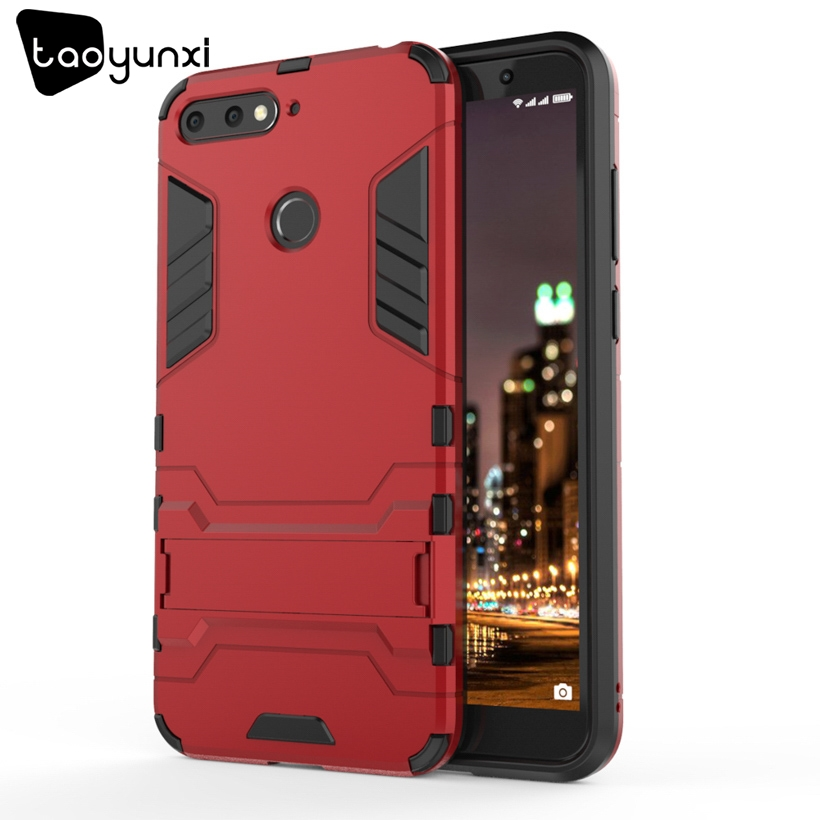 TAOYUNXI Hybrid Kickstand Phone Cases For Huawei Enjoy 8E Case For Huawei Y6 Prime 2018 Huawei Honor 7A Pro Honor 7A Cover