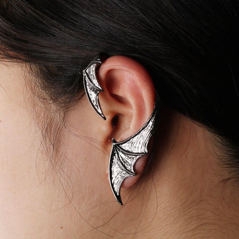 2 Pcs Fledermaus Geformt Ohr Clip Fledermaus Flügel Ohr Manschette Clip Auf Ohrringe Halsband Fledermaus Ohrring Für Frauen Einstellbare Dangler Clip Ohrringe