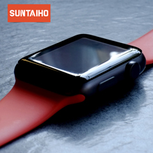Suntaiho 4D Curved Tempered Glass for iWatch series 1/2/3 Full Coverage Screen Protector for Apple watch 38mm 42mm Glass Film