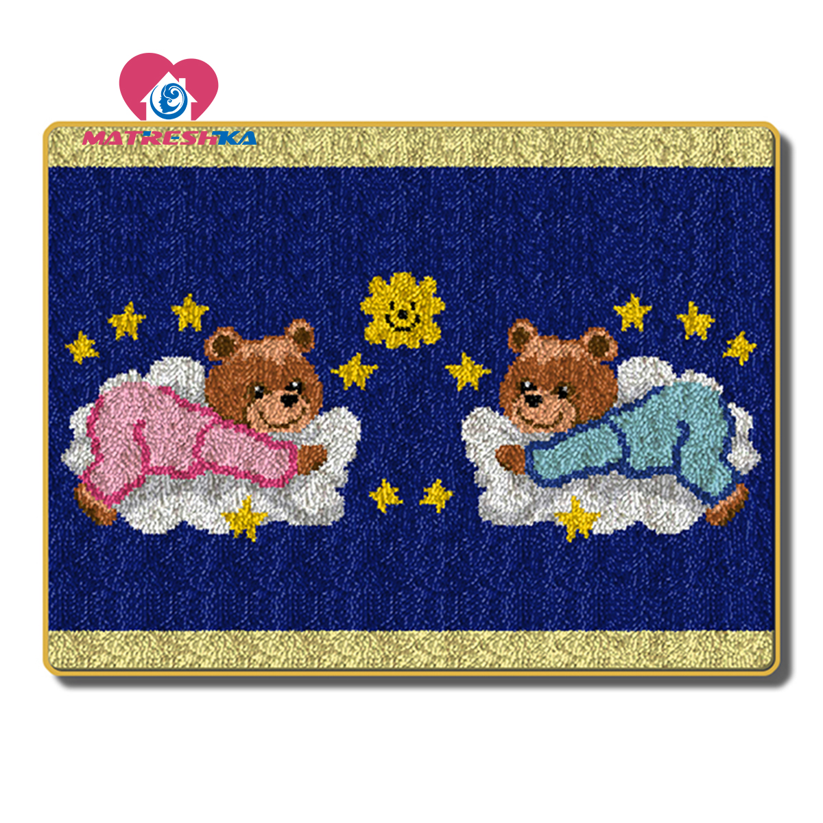 Embroidery Cartoon Bear Latch Hook Rug